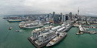 Auckland had its busiest cruise ship day on record with four ships in port on Saturday. Photo / ATEED