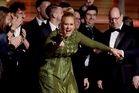 Adele collected five Grammys in total including album of the year for 25. Photo / AP