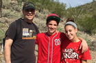 Noah Stern, center, appears with father Jonathan and sister Talia in late 2013. Jonathan was diagnosed with glioblastoma, an aggressive type of brain cancer, in 2015 and died last year. Photo / Courtesy of Noah Stern