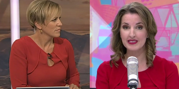 Loading Hilary Barry, from Breakfast, and Amanda Gillies, from The AM Show, were seen wearing similar outfits this morning.