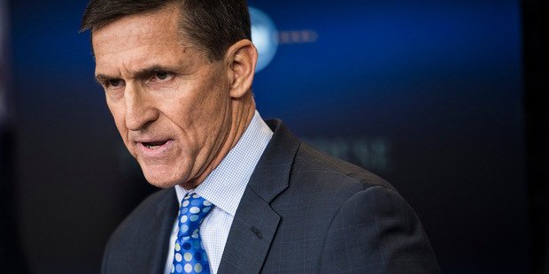 National security adviser Michael Flynn speaking at the White House. Photo / The Washington Post / Jabin Botsford