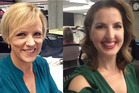 Hilary Barry and Amanda Gillies are wearing the same coloured clothes again today. Photos/Twitter