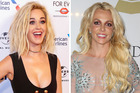 Katy Perry has set off Britney Spears' fans after joking about her famous breakdown at the Grammys. Photos / AP