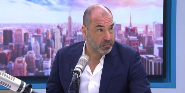 Rick Hoffman, who stars as Louis Litt in Suits, on The AM Show. Photo / Newshub