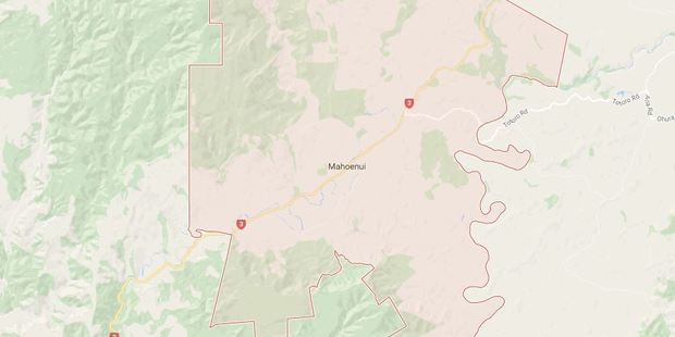 Part of the State Highway 3 at Mahoenui is closed near the intersection with Ngatarawa Road. Photo / Google Maps