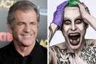 Mel Gibson and Jared Leto as the Joker (he's on the right - we know it's hard to differentiate).