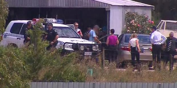 Meningie arrest in relation to the alleged abduction of a Belgian backpacker. Photo / Nine News