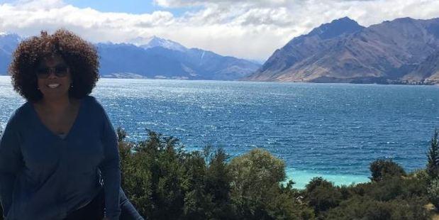 Oprah Winfrey is in New Zealand to film Disney film A Wrinkle in Time. Photo / Instagram @oprah