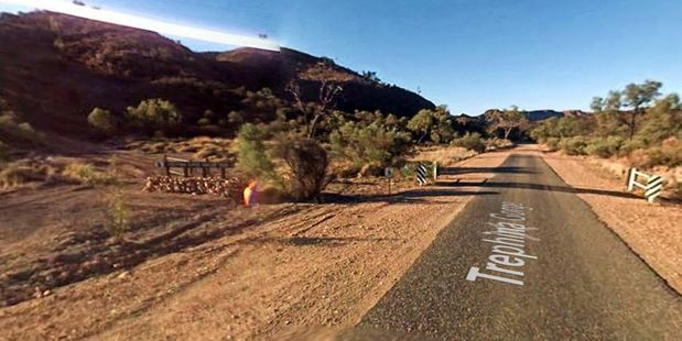 The couple's hire car had been in a carpark at Trephina Gorge Nature Park for two days.