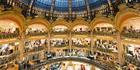 Interior of the Galeries Lafayette in Paris.