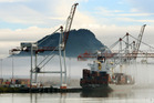 Port of Tauranga, where many logs are treated with methyl bromide gas before being exported. Photo/file