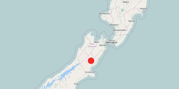 More than 1300 people have reported feeling the quake. Photo / GeoNet