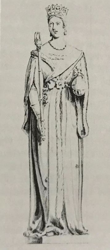 A sketch for the statue of Queen Victoria by John Thomas (1813-1862)