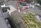 The footage shows the car approaching the no-exit end of Haslett St and turning around. Photo / NZ Police