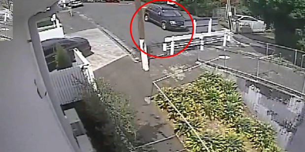 Loading The footage shows the car approaching the no-exit end of Haslett St and turning around. Photo / NZ Police