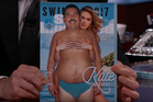 Kate Upton features on the cover of Sports Illustrated magazine on the Jimmy Kimmel Show. Photo / YouTube