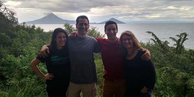 The Goldfarb family in Niacaragua; involving teens in planning can make a family trip run more smoothly. Photo / Aviva Goldfarb