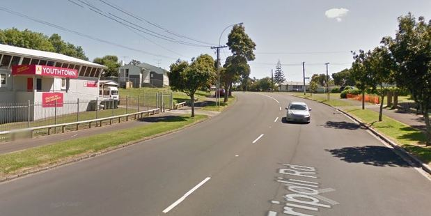 Police were called to the scene, outside Youthtown on the corner of Tripoli Rd and Tangaroa St. Photo / Google Maps