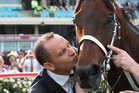 Trainer Chris Waller and Winx. Photo / NZ Racing Images