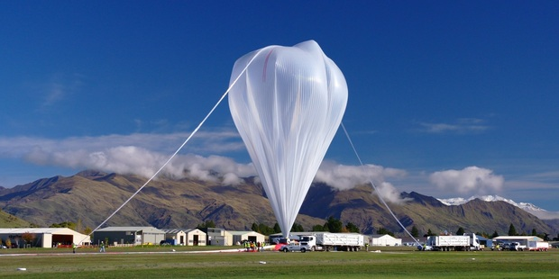 NASA's super balloon at Wanaka last year. It was airborne for 46 days.