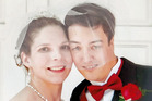 Angie and Brian on their wedding day in 2013. Photo / Brian Richards, CATERS