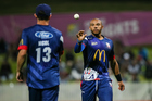 Auckland Aces' Tymal Mills during a Super Smash T20 match. Photosport
