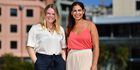 Miranda Hitchings (left) and Jacinta Gulasekhartam are launching a 'buy one give one' scheme to get free sanitary products into high schools. Photo/ Marty Melville