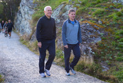 Australian Prime Minister Malcolm Turnbull, and Prime Minister Bill English on their walk in Queenstown. Photo / Mark Mitchell