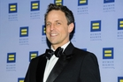 Seth Myers' toothy grin  masks a rottweiler wit. Photo / AP