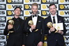 Caleb Thompson (left) at the VES awards with other nominees Thijs Noij and Dominic Hellier. Photo/Supplied