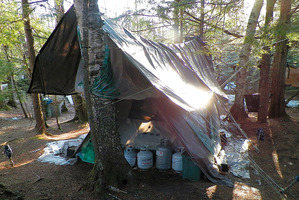 The camp area of hermit Christopher Knight.