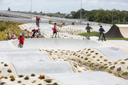 The pump section, in the foreground, at the Waterview skate and BMX park. Photo/Auckland Council