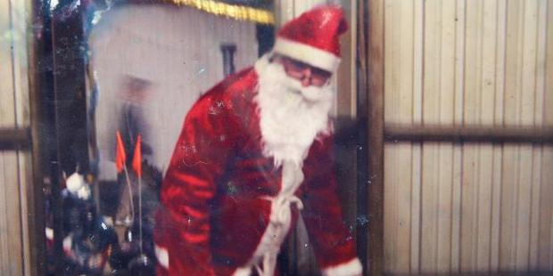 Charlie Colt, dressed as Santa on the family farm, told news.com.au the Colt children were not related despite the findings of DNA tests. Photo / News Corp Australia