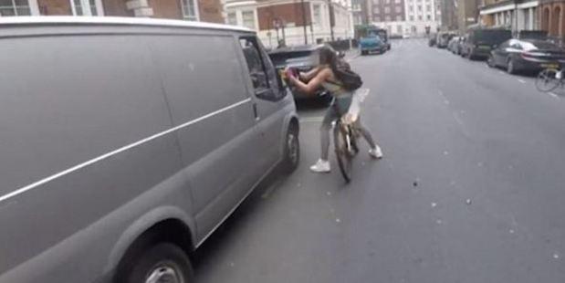 Cyclist Gets Revenge On Leacherous Van Driver