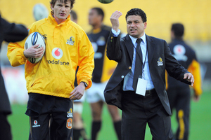 Wellington assistant coach Andre Bell, right. Photosport