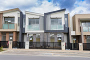 Newly built contemporary townhouses in Melbourne. Photo / 123rf