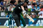 Jimmy Neesham's job is to get in and lay a platform for the death push at the end of the innings. Photo / AP