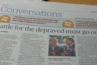 Talk about depriving the reader of a great headline. From Eastern Courier 15th February, 2017.