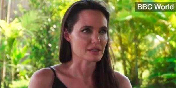 Angelina Jolie got emotional talking about her split with Brad Pitt. Photo / BBC