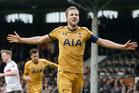 Tottenham Hotspur's Harry Kane celebrates after scoring his side's third goal. Photo / AP