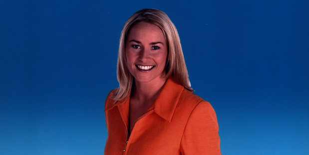 Bernadine Oliver-Kerby as a sports reporter at TVNZ in 2000.
