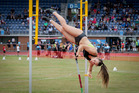 Olivia McTaggart broke Eliza McCartney's junior record at HB Regional Sports Park. Photo / Warren Buckland
