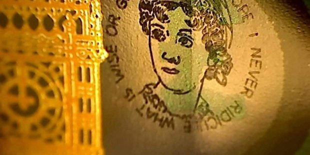 Graham Short engraved the notes and spent them across Britain. Photo / Twitter