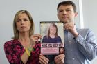 Kate and Gerry McCann hold an age-progressed police image of their daughter. Photo  / Getty Images