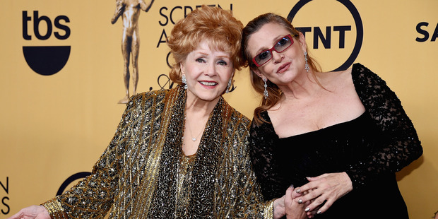 Debbie Reynolds and Carrie Fisher. Photo / Getty Images