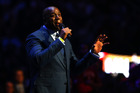 Earvin Magic Johnson speaks before the NBA All-Star Game 2016. Photo / Getty Images