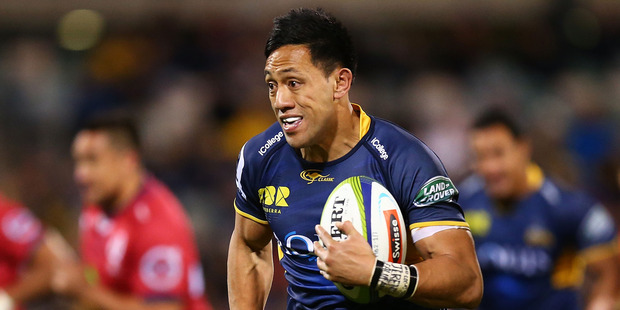 Christian Lealiifano in action for the Brumbies against the Reds at GIO Stadium in Canberra last year. Photo / Getty Images.