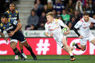 Damian McKenzie of the Chiefs up against the Highlanders. Photo / Getty