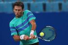 Artem Sitak returns a shot against Michael Berrer. Photo / Getty Images