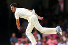 Mitchell Starc in action against Pakistan in Sydney last month. Photo / Getty Images.